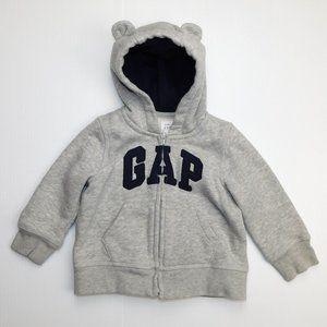 Gap 12-18 Months Spellout Full Zip Hoodie w Ears